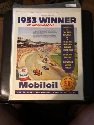 50th Anniversary Mobiloil 1953 Winner Indianapolis Ad