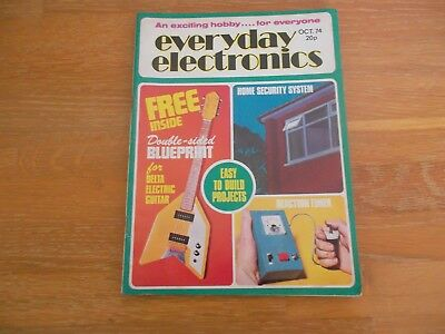 Everyday Electronics Magazine Oct 1974 Electric Guitar With Blueprint Home Alarm
