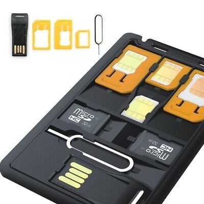 Travel Slim SIM Card holder case & MicroSD card Storage holder UK seller
