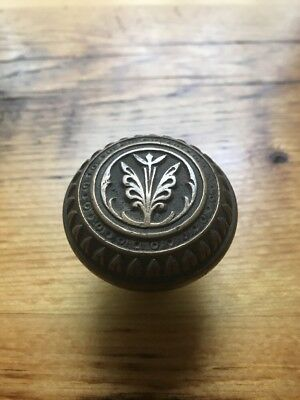 "BG&M ""Lotus""  Eastlake Victorian Brass Antique Doorknob Door Knob"