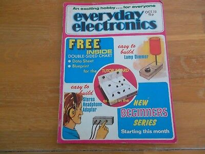 Everyday Electronics Magazine Oct 1973 Lamp Dimmer Stereo Headphone Adaptor