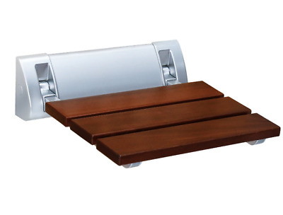 FOLDING BATH SEAT Bench Shower Chair Wall Mount Solid Wood ...