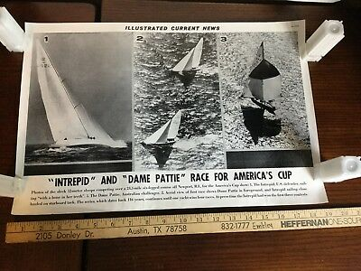 Illustrated Current News Photo - Intrepid Dame Pattie America's Cup Sailing