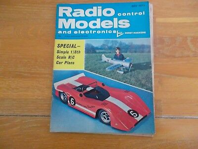 RADIO CONTROL MODELS & ELECTRONICS MAG MAY 1971 1/8th SCALE R/C CAR PLANS