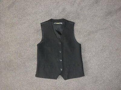 Boys smart black waistcoat age 9-10 years suitable for wedding party