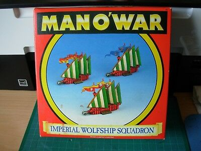 Fantasy Man o'War Empire Wolfship Squadron of 3 in Original Box Rare OOP