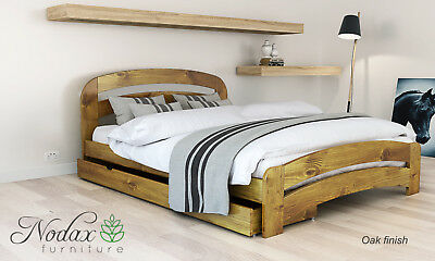 *NODAX* Wooden Pine Super King Size Bed 6ft Wooden Bed frame&Slats'F10'_COLOURS