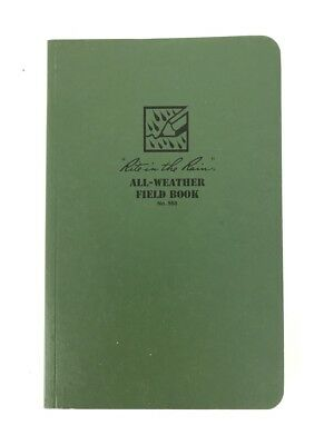 Rite in the Rain All-Weather Field Book 980, Green Weather Proof Paper Planner