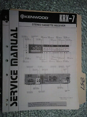 kenwood krx 7 service manual original repair book stereo receiver rh picclick com kenwood cassette deck manual 4028 Kenwood User Manuals Printable