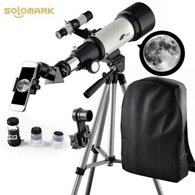 Solomark Telescope 70mm Apeture Travel Scope 400mm AZ Mount