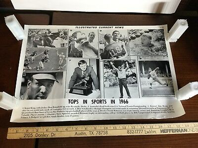 Illustrated Current News Athletes 1966 Bart Starr Frank Robinson Spurrier Koufax