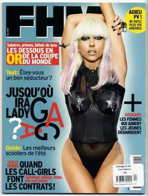 LADY GAGA - FHM MAGAZINE FRANCE EDITION No.4 MAY 2010 + 6 PAGE ARTICLE