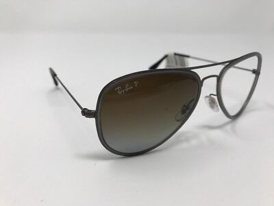 078703de8 RAY-BAN RB3513-M AVIATOR Flat Metal 14 Gunmetal Sunglasses 4832 ...