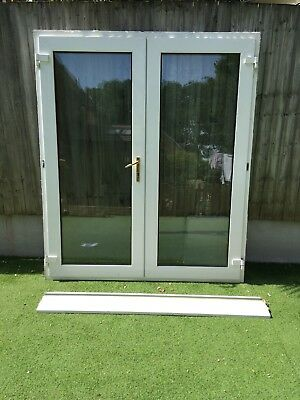 Used Double Glazed Patio Doors And Frame 3000 Picclick Uk