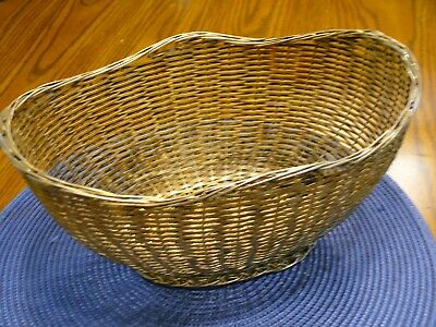Vintage silver plated wire basket
