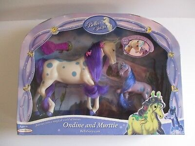 Bella Sara Magical Horse Collection 2010  Mom & Baby  Ondine & Murttie Nib