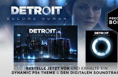 Detroit Become Human Pre-order DLC: DYNAMIC THEME & SOUNDTRACK PS4 Playstation 4