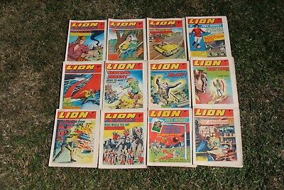 Collection Of 12 Lion / Lion And Eagle Comics All From 1970