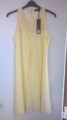 Ladies dress occasion evening party Showcase by Dorothy Perkins size 16 lemon