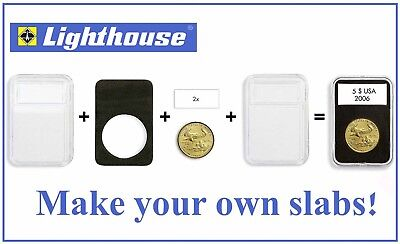 Lighthouse Everslab Coin Holder 39mm 5 Slabs Capsule For 5$ Canada Silver Maple