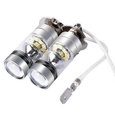 2X H3 LED Fog Light 100W Super Bright CREE Chips Car Driving Light White Bulbs