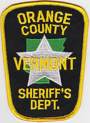 Orange County Sheriffs Department  Police Patch Vermont VT NEW