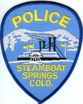 Steamboat Springs  Police Patch Colorado CO NEW!!