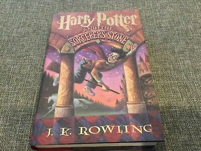 Harry Potter and the Sorcerers Stone hardcover book.