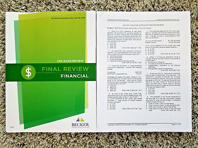 New 2018 becker cpa final review financial far v32 rq 05 18 new 2018 becker cpa final review financial far v32 rq 05 fandeluxe Images