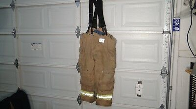 Morning Pride LTO-1513PG Firefighter Turnout Pants With Suspenders 44/32 2012