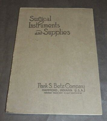 1918 Surgical Instruments And Supplies Catalog Stethoscopes Operating Tables ++