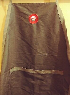 PIZZA HUT RESTAURANT EMPLOYEE APRON  ONE SIZE BLACK IQ GROUP APPAREL Grey Red
