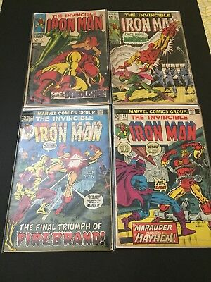 the invincible iron man #2,10,59,61 Comic Books From Marvel.