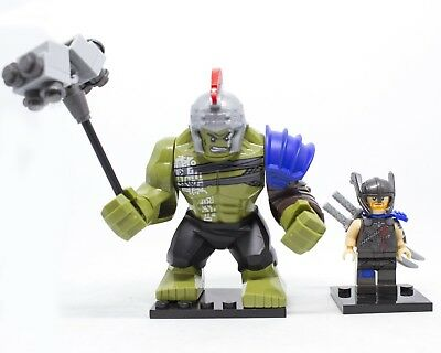 Lego Set Minifigures Hulk Gladiatore E Thor Ragnarok Custom Like