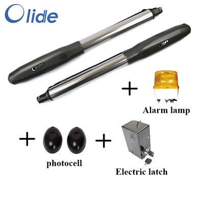 Olide Swing Gate Opener Double Arm with Alarm Lamp, Photocell, Electric Latch