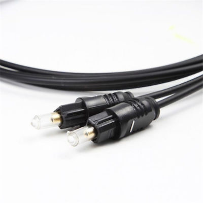 OD2.2 Gold Plated Digital Audio Optical Optic Fiber Cable Toslink SPDIF Cord ST