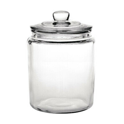 Glass Biscuit Jar 6.2L Olympia Classic Traditional Cookie Canister Barrel