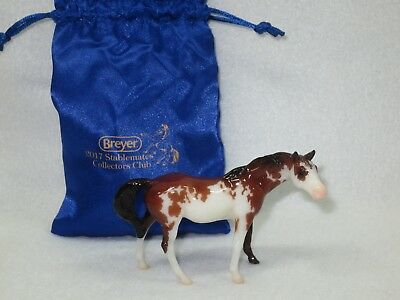 Breyer #712214 - Coco 2017 Stablemate Collector's Club - Glossy Pinto