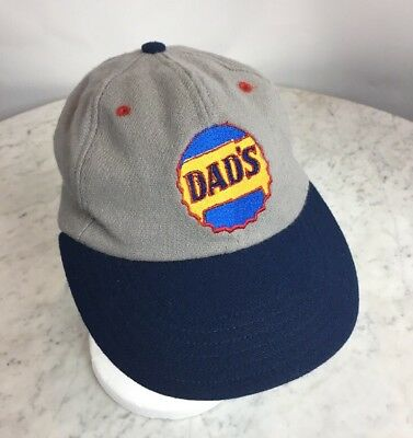 DAD'S Root Beer Logo Old Fashion Wool Kids Baseball Cap Cooperstown Ballcap Co.