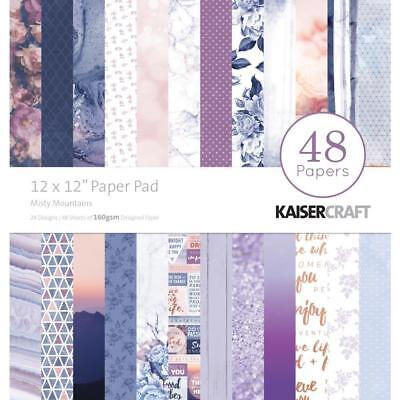 Kaisercraft Misty Mountains Paper Pad 12x12 48 Pages - Nini's Things