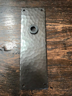 Art's and Crafts Hammered copper door plate- price reduced