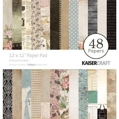 Kaisercraft Antique Esentials Paper Pad 12x12 48 Pages - Nini's Things