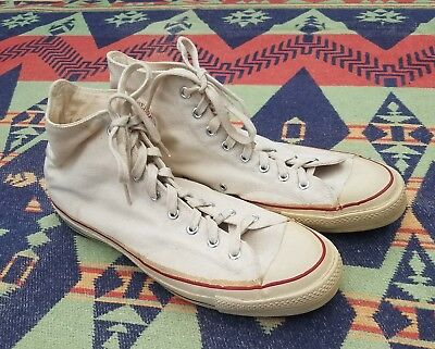 VTG 60's 70's CONVERSE CHUCK TAYLOR BLUE LABEL CANVAS SNEAKERS USA SZ 12 PERFECT