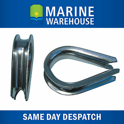 2X 10mm Stainless Steel Thimble - Boat Marine Spliced Rope Thimble 107032