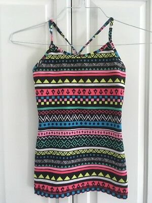 Ivivva Multicolored Tank Top With Built-in Bra Size 10