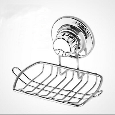 Wall Suction Cup Bathroom Bath Shower Stainless Steel Soap Dishes Holder