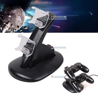 Led Dual Charger Dock Usb Charging Stand For Ps4 Playstation Controller Td
