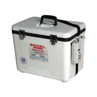 Engel Coolers 30 Quart Live Bait Cooler/Dry Box with Air Pump, White
