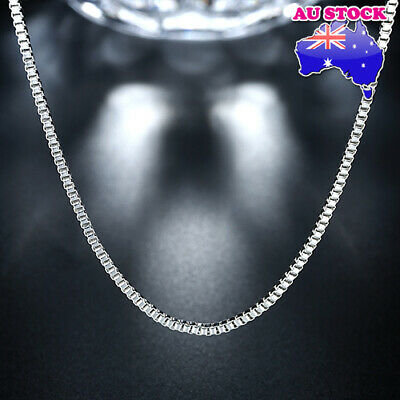 Wholesale 925 Silver Filled 2mm Box Chain Necklace Chain