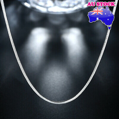 Wholesale 925 Silver Filled 2mm Classic Snake Chain Necklace Chain